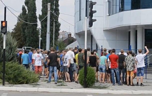 Жители Луганска блокировали офис ОБСЕ 09.08.15 (ВИДЕО)