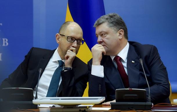 Партии Порошенко и Яценюка договорились о слиянии - СМИ