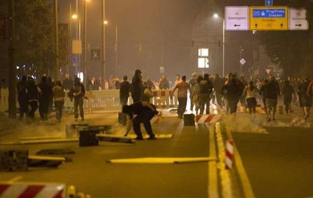 Под Дрезденом снова вспыхнули беспорядки у приюта для беженцев