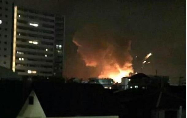На военной базе США в Японии произошли взрывы