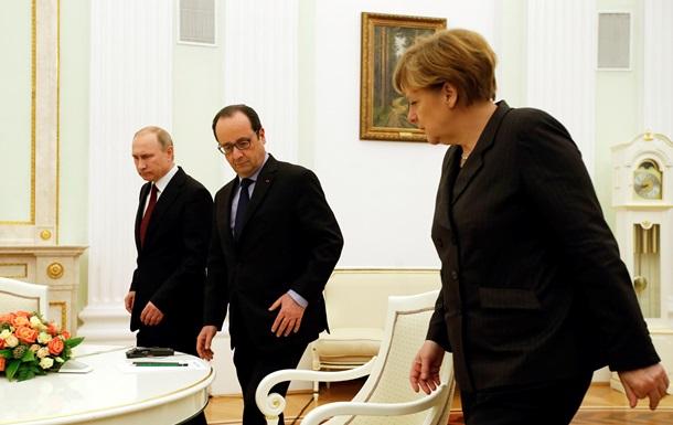 Путін, Меркель і Олланд закликали припинити вогонь з 1 вересня