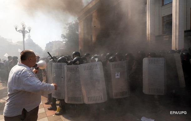Взрыв и столкновения под Радой: фоторепортаж
