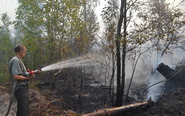 Под Киевом третьи сутки авиация тушит лесной пожар