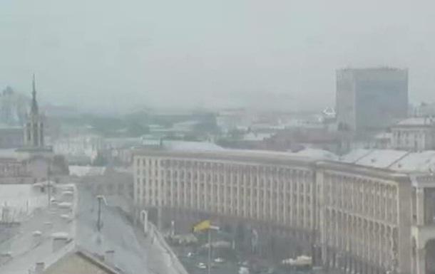 Дым в Киеве из-за пожаров