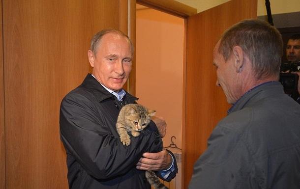 Путін з котеням став хітом Рунету