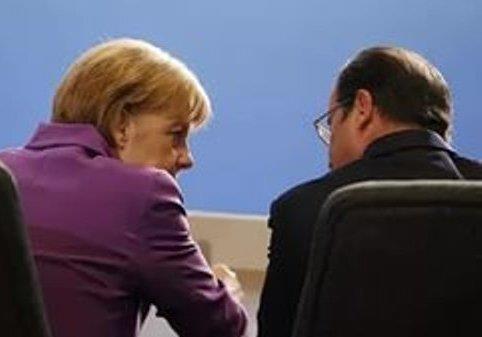 К Меркель и Олланд.