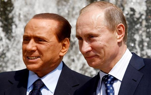 Берлусконі прибув до Криму до Путіна