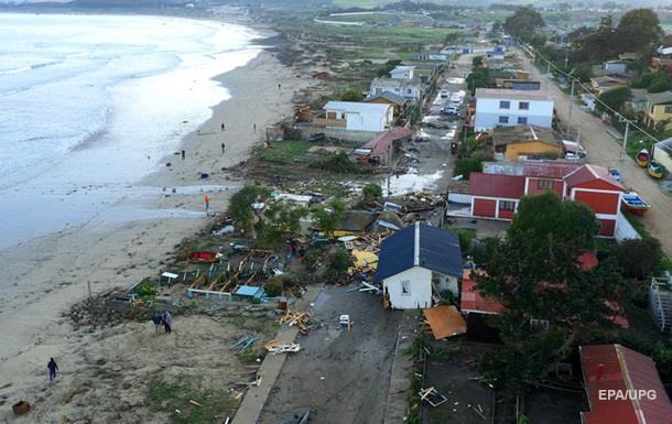 У берегов Чили произошло новое землетрясение
