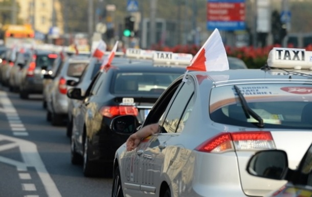 В Варшаве протестуют таксисты