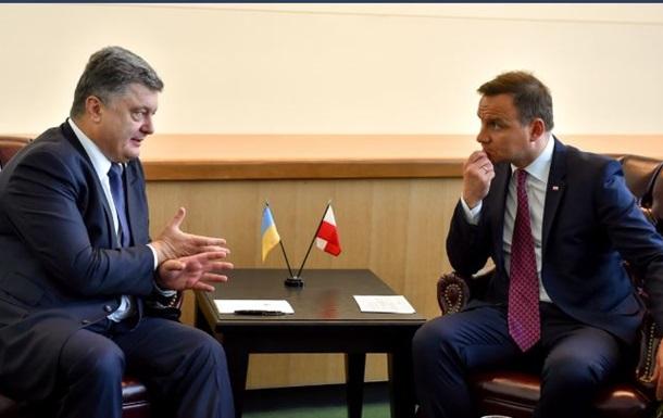 Порошенко провел встречу с президентом Польши