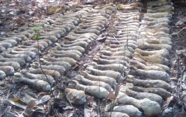 В Киеве в лесу нашли более 700 боеприпасов