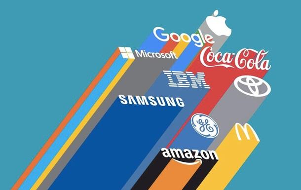 Эксперты назвали 100 лучших мировых брендов