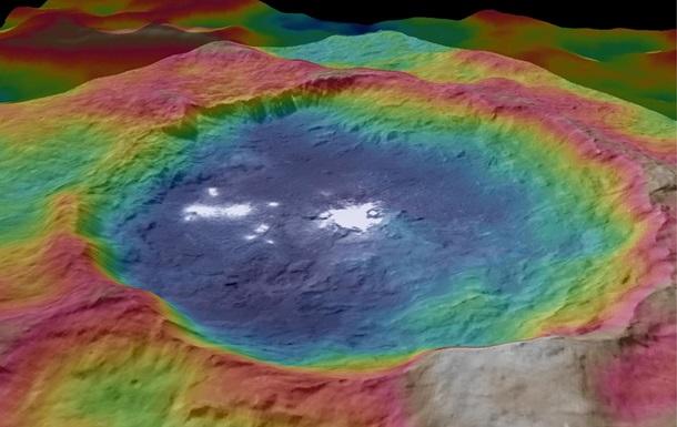 Ученые объяснили загадку белых пятен на Церере