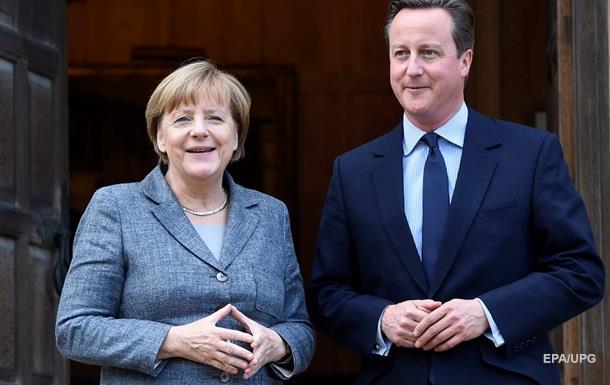 Кэмерон и Меркель выступили за сохранение антироссийских санкций