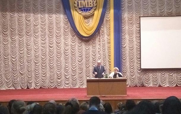 Зустріч із кандидатом на посаду ректора Леонідом Губерським. Репортаж