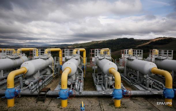 Украинские подземные газохранилища заполнены наполовину