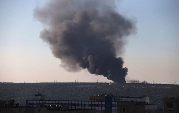 Пожар на военном складе в Сватово