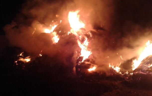 На Харьковщине сгорело 160 тонн сена