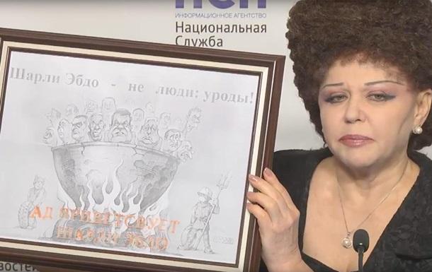 Сенатор РФ выдала рисунок с Януковичем за карикатуру на Charlie Hebdo