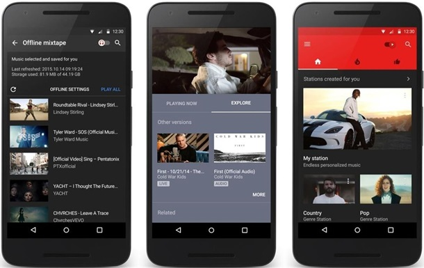 приложение YouTube Music