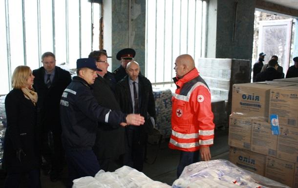 В Запорожье переселенцам выдали 46 тонн продуктов