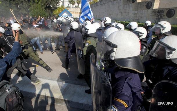 В Афинах начались столкновения фермеров с полицией