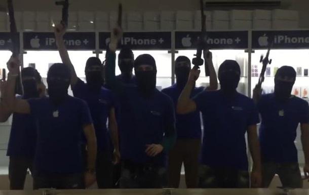 Видео с  террористами  взорвало грузинские соцсети