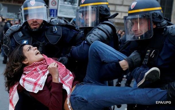 Акция протеста в Париже: более 200 арестов