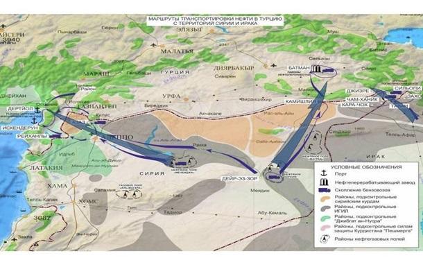 РФ показала якобы переброску ИГ нефти в Турцию