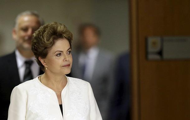 Президент Бразилии уверена, что процедура импичмента завершится провалом
