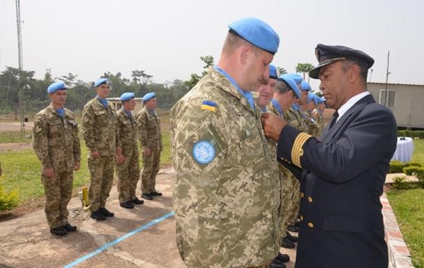Украинский контингент в Кот-д Ивуаре наградили медалями ООН