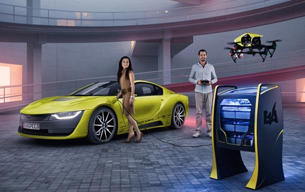 Швейцарцы представят автономный спорткар с дроном-помощником