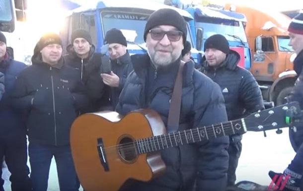 Шевчук спел перед бастующими дальнобойщиками