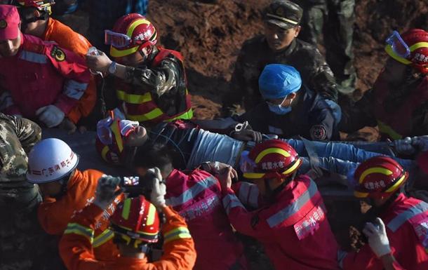 Оползень в Китае: спасен находившийся под завалами 67 часов мужчина