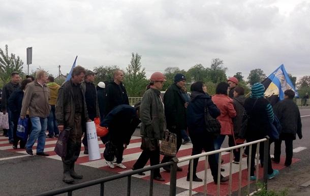 Шахтеры перекрыли трассу Львов – Рава-Русская