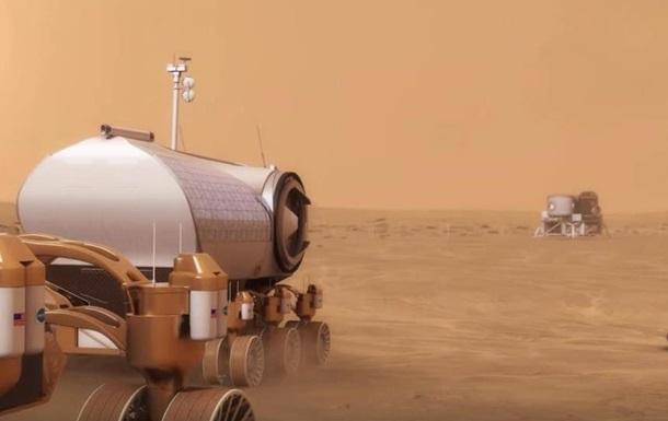NASA показало строительство колонии на Марсе