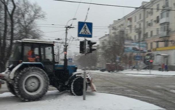 В Донецке начались сильные снегопады