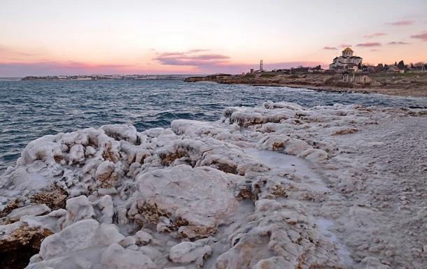 Херсонес во льду. В Севастополь пришла зима