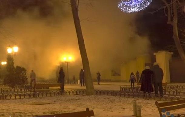 В центре Одессы горит кинотеатр