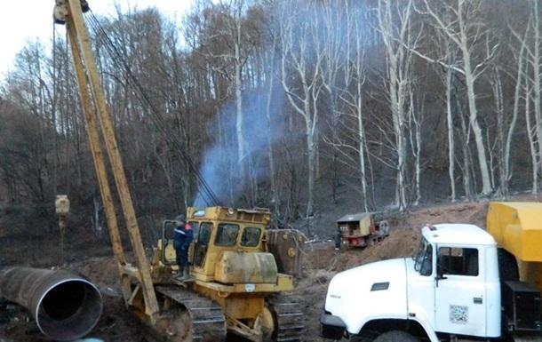 В Закарпатье третьи сутки ликвидируют последствия аварии на газопроводе