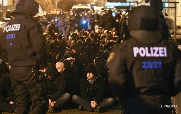 В Германии арестовали более 200 участников погрома в Лейпциге