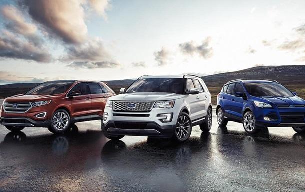 Ford Edge, Ford Explorer, Ford Escape.