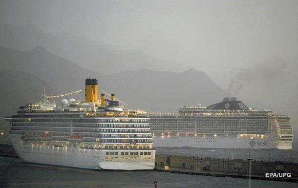 Круизный лайнер изменил курс из-за угрозы безопасности пассажиров