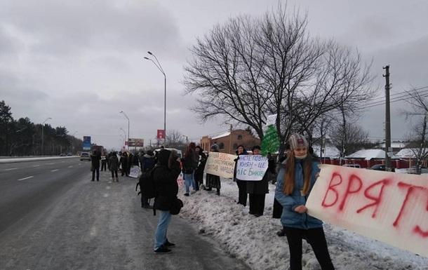Киевляне против вырубки Быковнянского леса