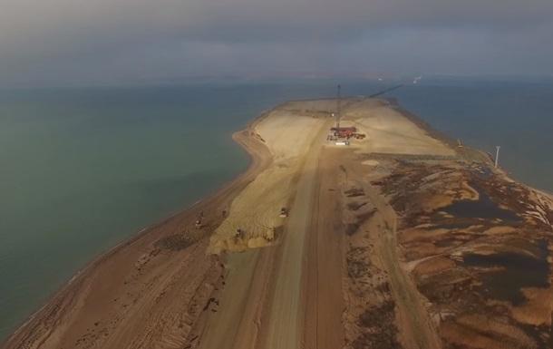 З явилося нове відео будівництва Керченського мосту