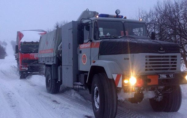 В Днепропетровской области закрыли две автодороги