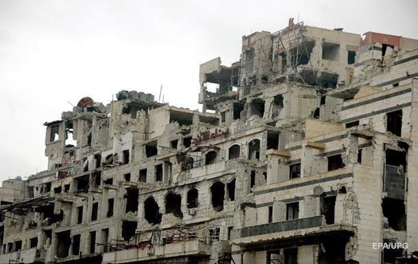СМИ показали разрушенный Хомс с беспилотника