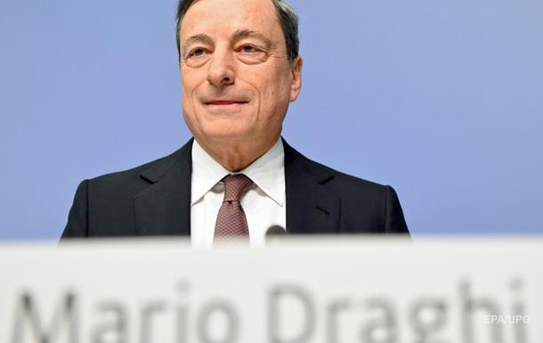Евро упал на заявлениях главы ЕЦБ