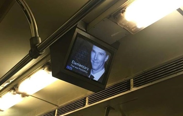 У Києві на моніторах метро з явився Шерлок