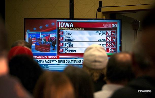 Круз обошел Трампа на внутрипартийных выборах в Айове